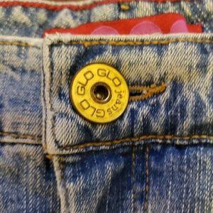 Glo Skirts - Juniors Denim Mini-skirt